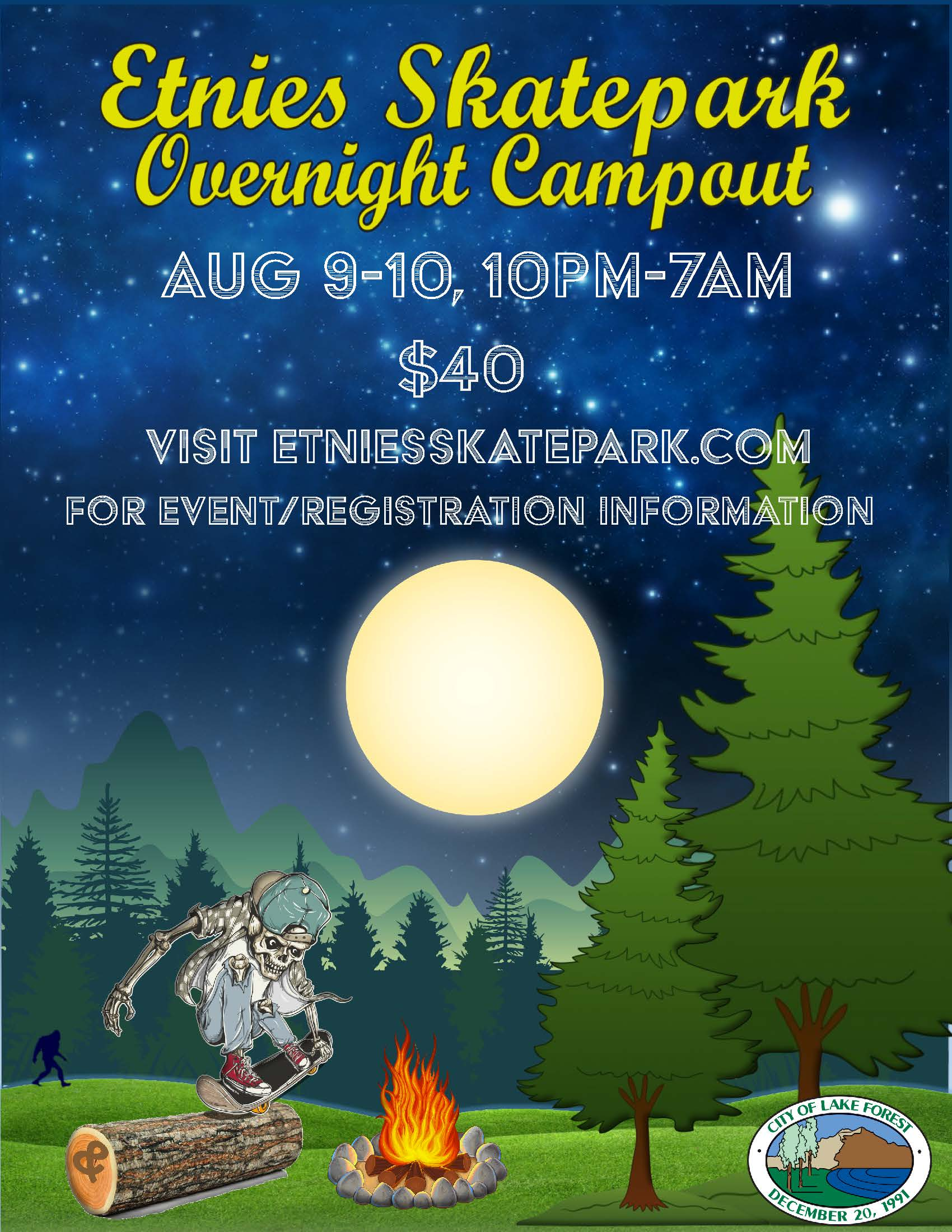 Overnight Campout Template